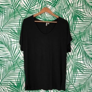 ASOS Black Slouchy Basic Black T-Shirt size 8